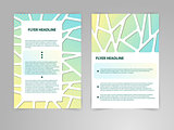 Abstract Brochure Flyer design vector template in A4 size with 3D Paper Graphics