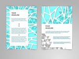 Abstract polygon Brochure Flyer design vector template in A4 size with 3D Paper Graphics