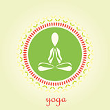 Yoga lotus vector logo design template. Beauty, Spa, Relax, Massage, Meditation, Nirvana concept icon.