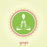 Yoga lotus vector logo design template. Beauty, Spa, Relax, Massage, Meditation, Nirvana concept icon.