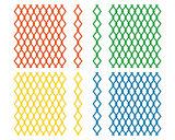 diamond-shaped grilles