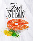 Fish steak watercolor