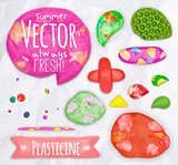 Set of plasticine sings