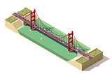 Vector isometric suspension bridge