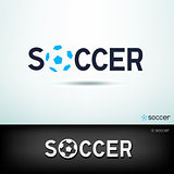 simple soccer logo