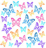 Butterflys. Vector illustration