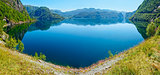 Summer mountain lake Suldalsvatn panorama (Norway)