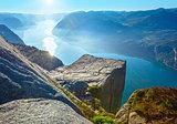 Preikestolen massive cliff top (Norway)