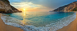 Sunset on Myrtos Beach (Greece, Kefalonia, Ionian Sea).