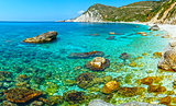 Petani Beach (Kefalonia, Greece).