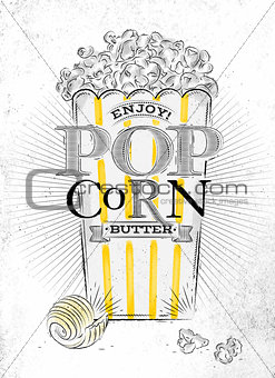 Poster popcorn butter