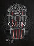 Poster popcorn black