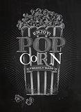 Poster popcorn chalk