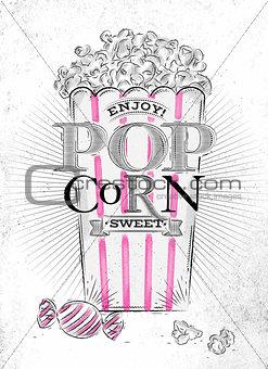 Poster popcorn sweet