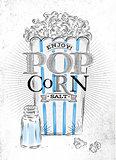 Poster popcorn salt