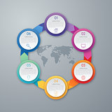 Infographic design with colored
