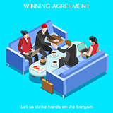 Business Room 02 People Isometric