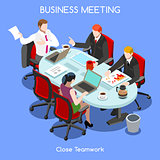 Business Room 03 People Isometric