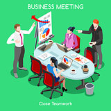 Business Room 04 People Isometric
