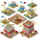 City Map Set 04 Tiles Isometric