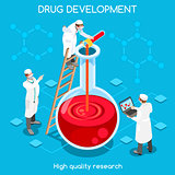 Drug Development People Isometric