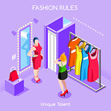 Fashion Moods 01 People Isometric