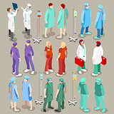 Hospital 21 People Isometric