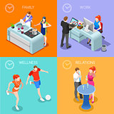 Life Time 01 People Isometric