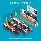 Medical Meeting People Isometric