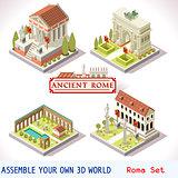 Roman 03 Tiles Isometric