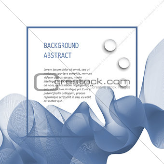Abstract  wave isolated on white background.