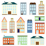 Set of vector houses