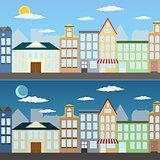 Summer cityscape illustration