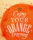 Poster orange