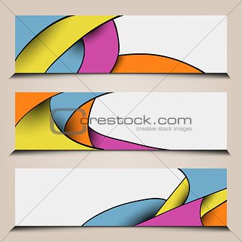 Abstract colorful polygon banners