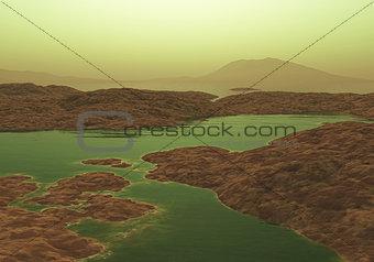 3D alien landscape