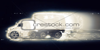 3D generic truck with speed effect