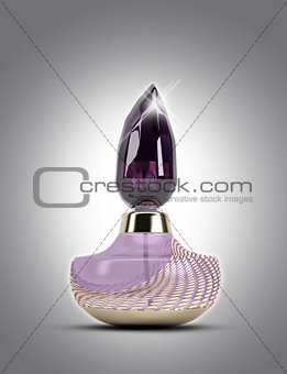 3D perfume bottle on a plain background