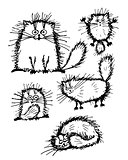 Fluffy white cats collection, sketch for your design