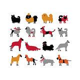 Funny dogs collection, sketch for your design