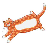Cute orange cat, sketch for your design