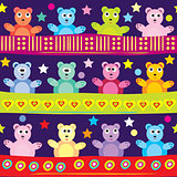 Cartoon bear background