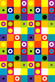 Squares and dots background
