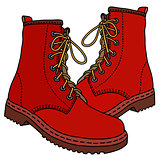 Funny red boots