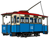 Vintage blue tramway