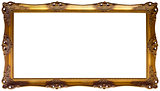 Panoramic Golden Frame Cutout