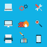 Computer Service Icons Flat
