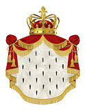 Royal mantle with crown