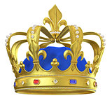 Gold crown with jewels