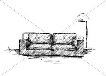 modern sketch interior
